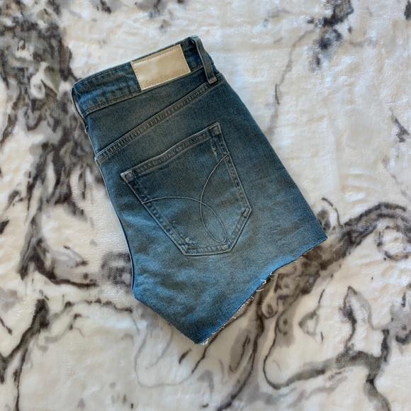 Light wash high waisted Calvin Klein shorts